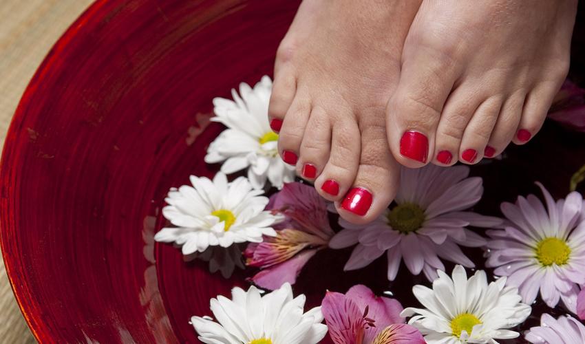 Escalda-Pés com flores